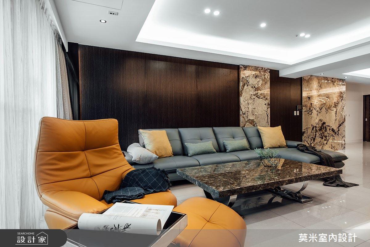 60坪新成屋(5年以下)_混搭風客廳案例圖片_莫米室內設計_莫米_空間的律動之3