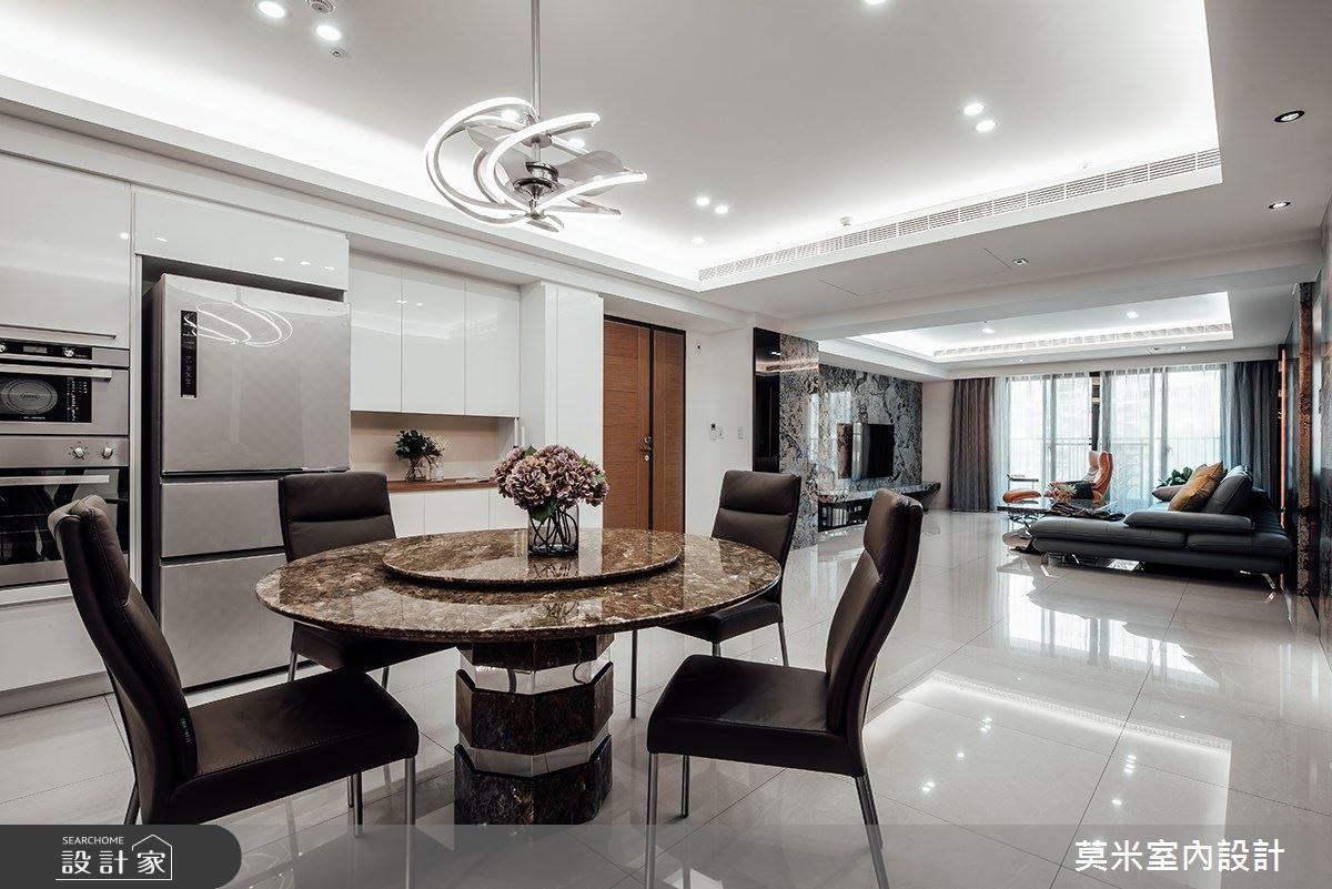 60坪新成屋(5年以下)_混搭風餐廳案例圖片_莫米室內設計_莫米_空間的律動之4