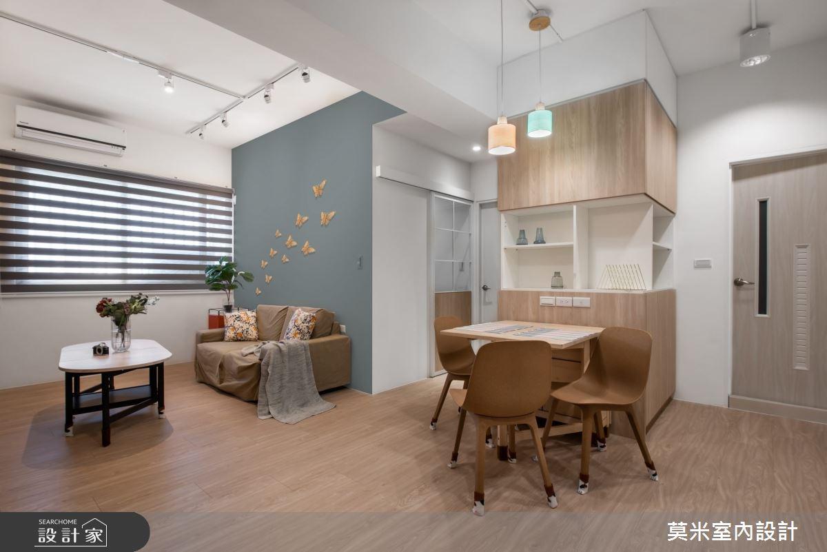 30坪老屋(16~30年)_混搭風客廳餐廳案例圖片_莫米室內設計_莫米_恬靜之6