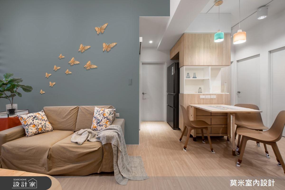 30坪老屋(16~30年)_混搭風客廳餐廳案例圖片_莫米室內設計_莫米_恬靜之7