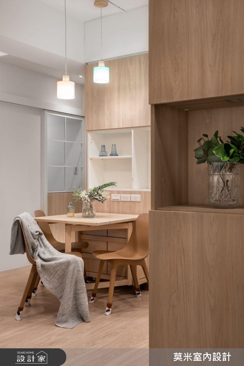 30坪老屋(16~30年)_混搭風玄關餐廳案例圖片_莫米室內設計_莫米_恬靜之4