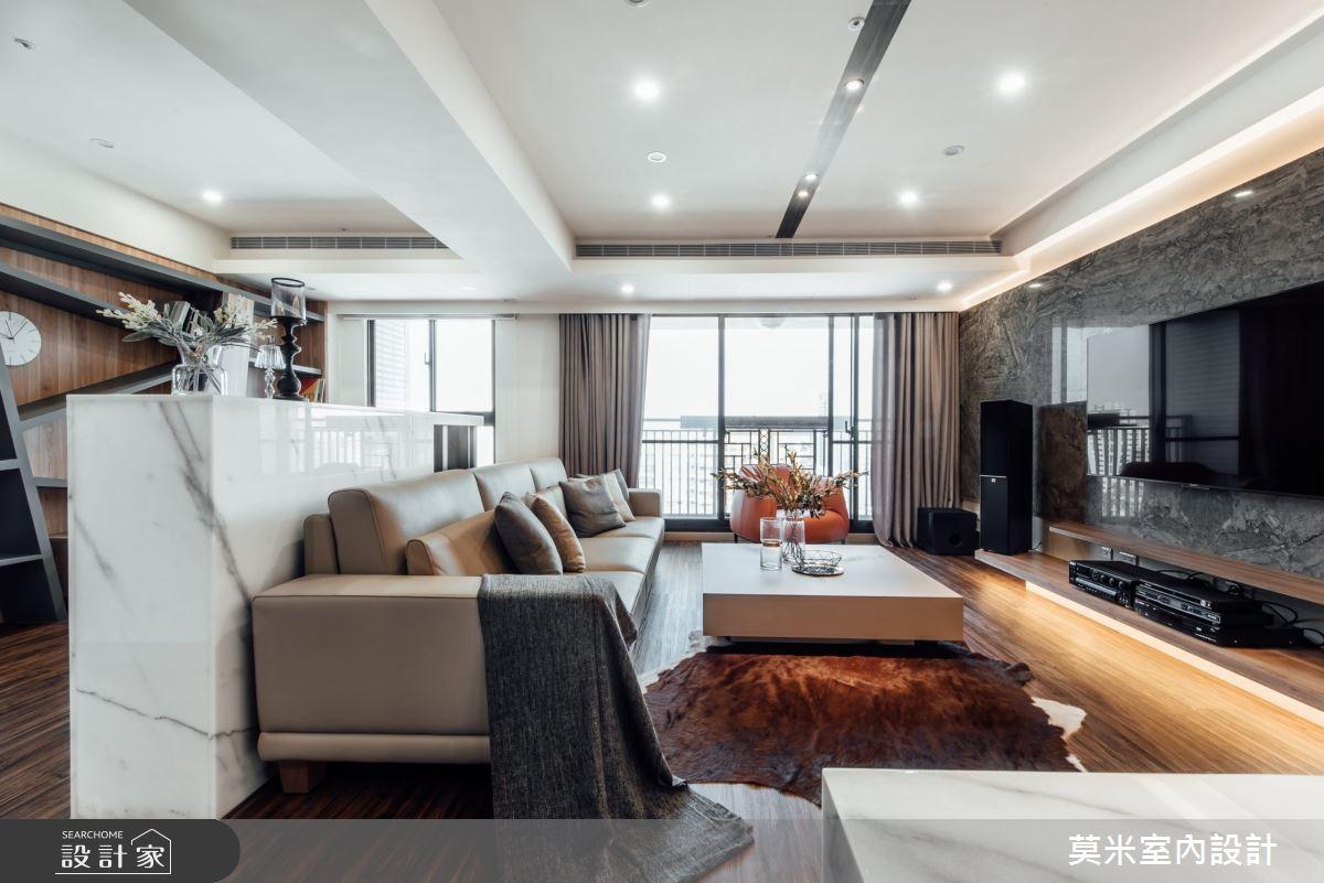 75坪新成屋(5年以下)_混搭風客廳案例圖片_莫米室內設計_莫米_秘境之2