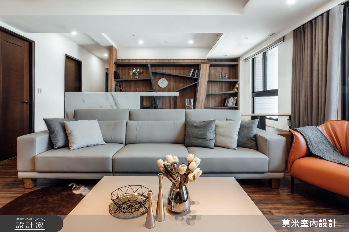 75坪新成屋(5年以下)_混搭風客廳案例圖片_莫米室內設計_莫米_秘境之4