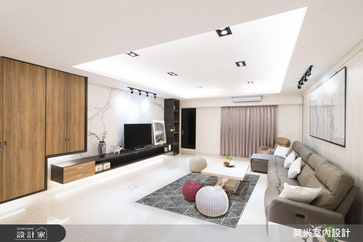 120坪新成屋(5年以下)_混搭風客廳案例圖片_莫米室內設計_莫米_溫潤線條之3