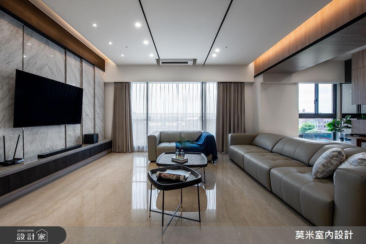 88坪新成屋(5年以下)_混搭風客廳案例圖片_莫米室內設計_莫米_靜謐之2