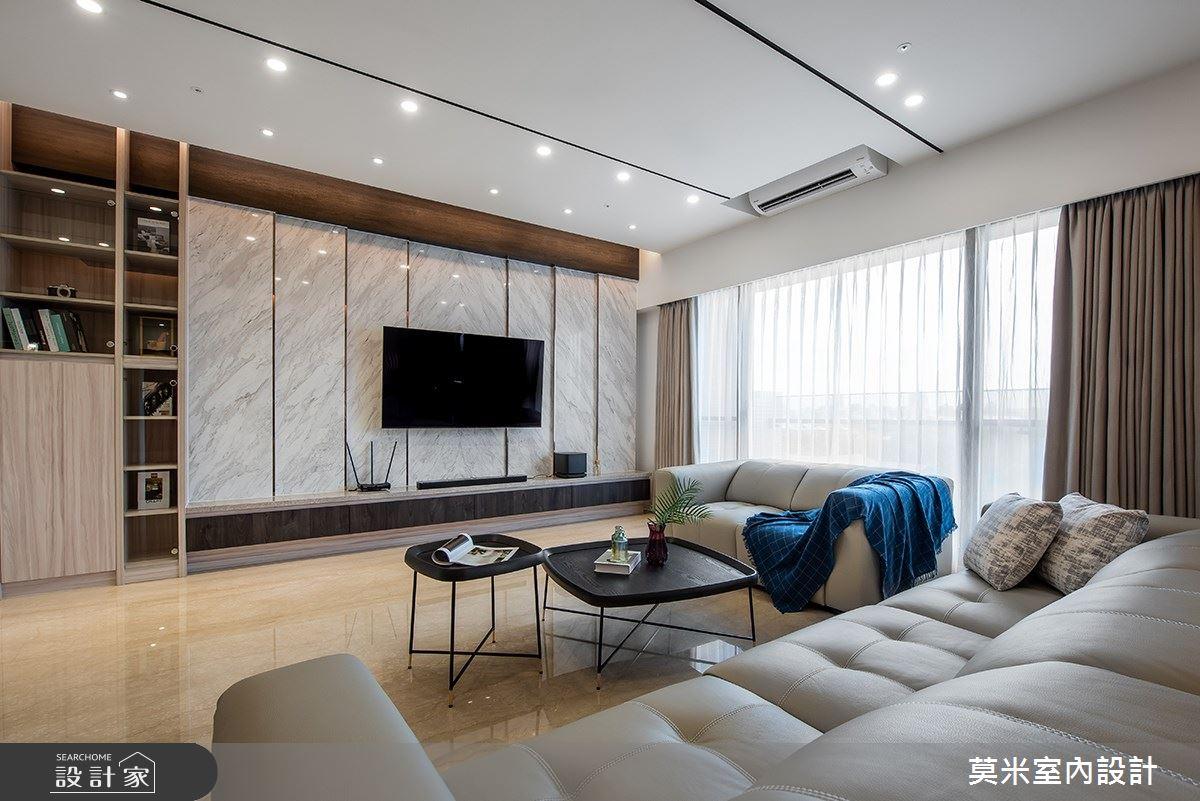 88坪新成屋(5年以下)_混搭風客廳案例圖片_莫米室內設計_莫米_靜謐之3