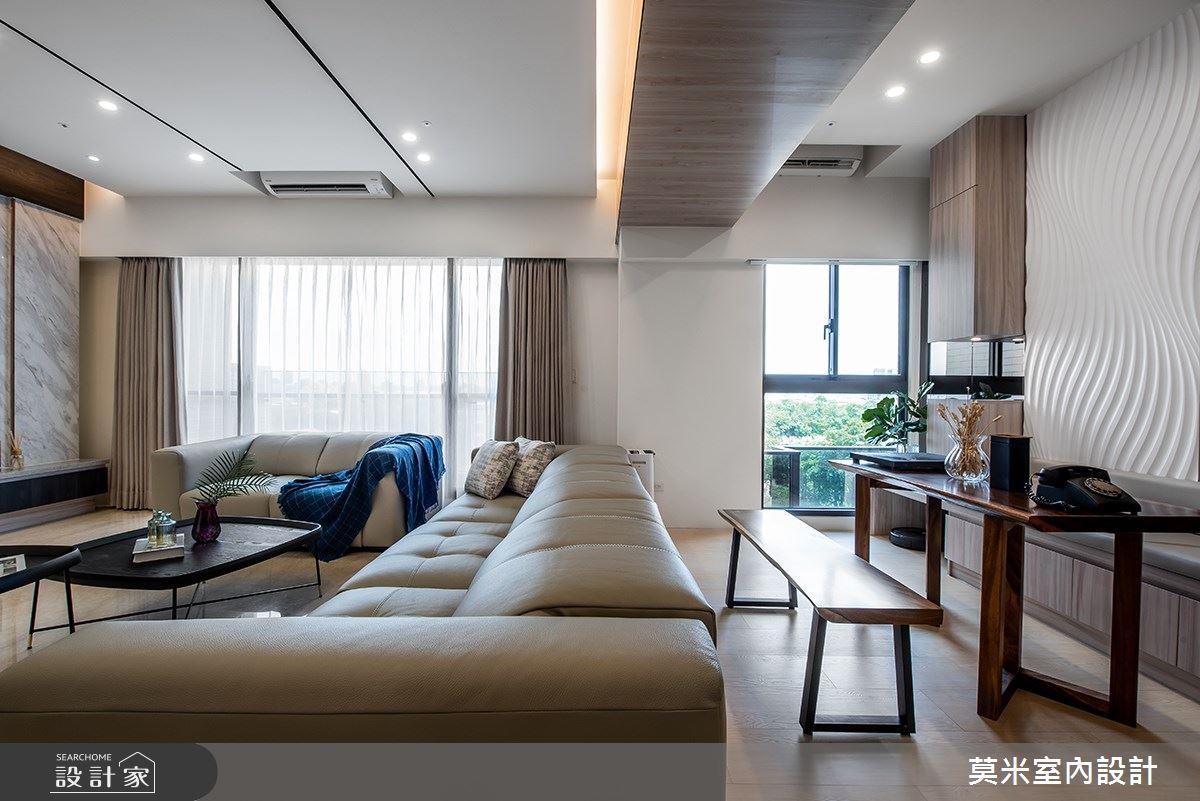 88坪新成屋(5年以下)_混搭風客廳案例圖片_莫米室內設計_莫米_靜謐之4