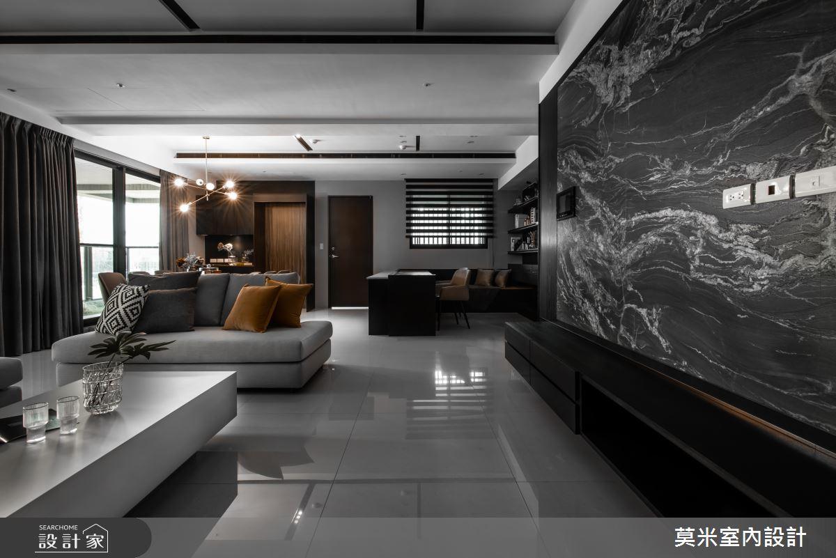 66坪新成屋(5年以下)_簡約風客廳案例圖片_莫米室內設計_莫米_光影軌跡之1