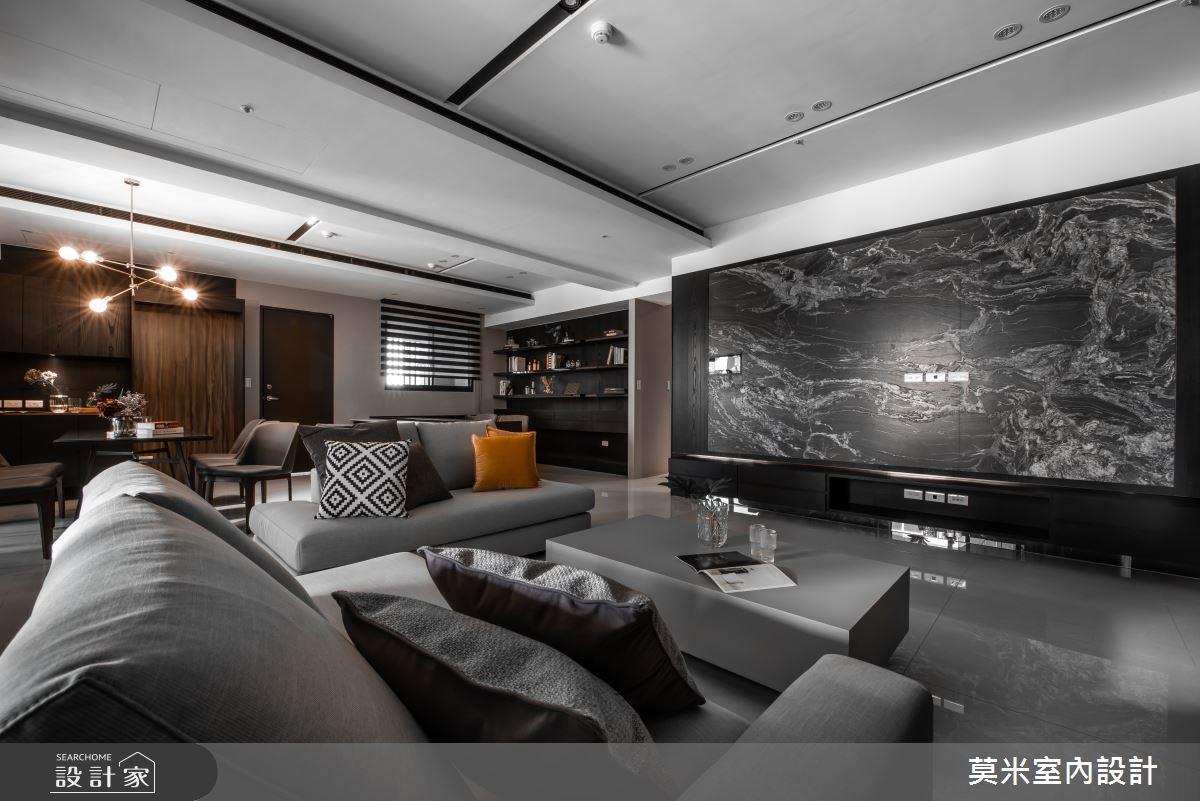 66坪新成屋(5年以下)_簡約風客廳案例圖片_莫米室內設計_莫米_光影軌跡之2