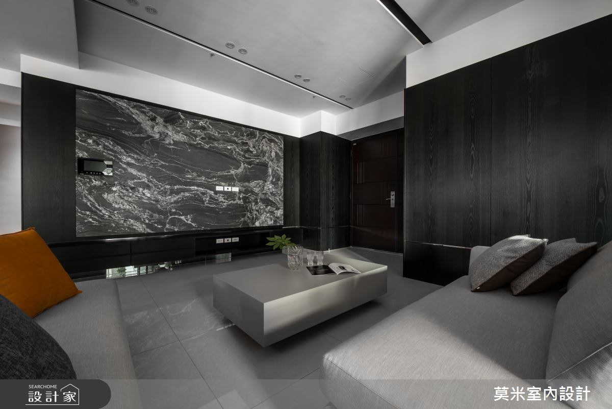 66坪新成屋(5年以下)_簡約風客廳案例圖片_莫米室內設計_莫米_光影軌跡之4