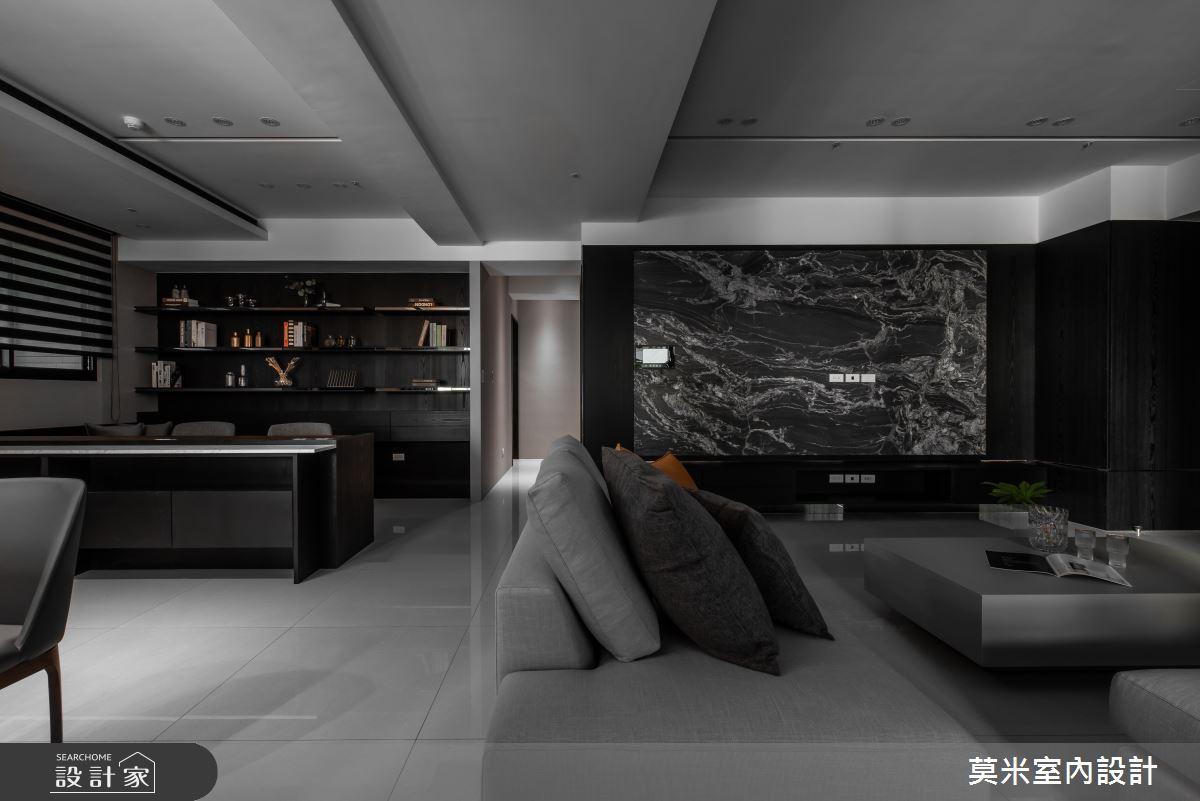 66坪新成屋(5年以下)_簡約風客廳案例圖片_莫米室內設計_莫米_光影軌跡之3