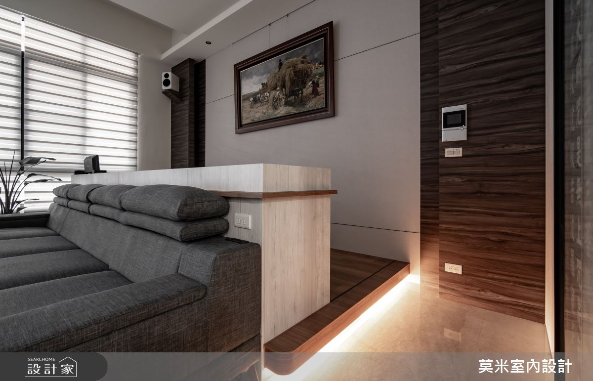 115坪新成屋(5年以下)_混搭風客廳案例圖片_莫米室內設計_莫米_日光之3