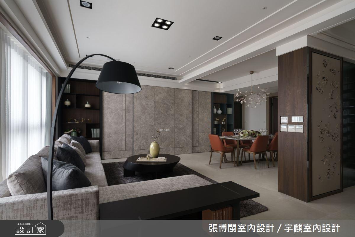 50坪新成屋(5年以下)_新中式風客廳案例圖片_張博閩室內設計 / 宇麒室內設計_張博閩_09之4