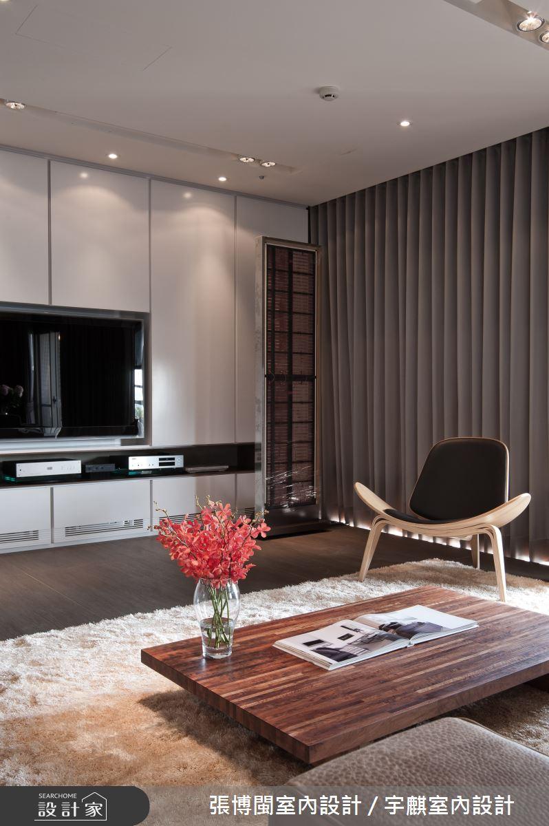 46坪新成屋(5年以下)_現代風客廳案例圖片_張博閩室內設計 / 宇麒室內設計_張博閩_14之2