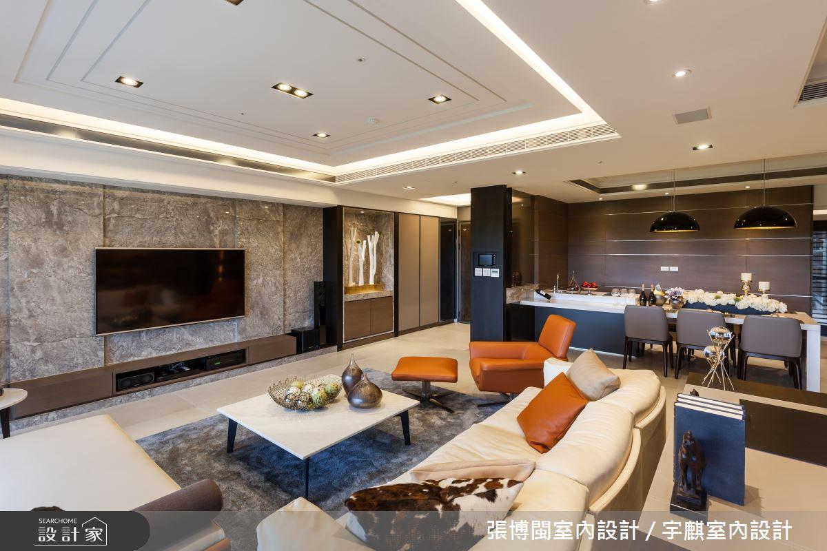52坪新成屋(5年以下)_新中式風客廳案例圖片_張博閩室內設計 / 宇麒室內設計_張博閩_19之7