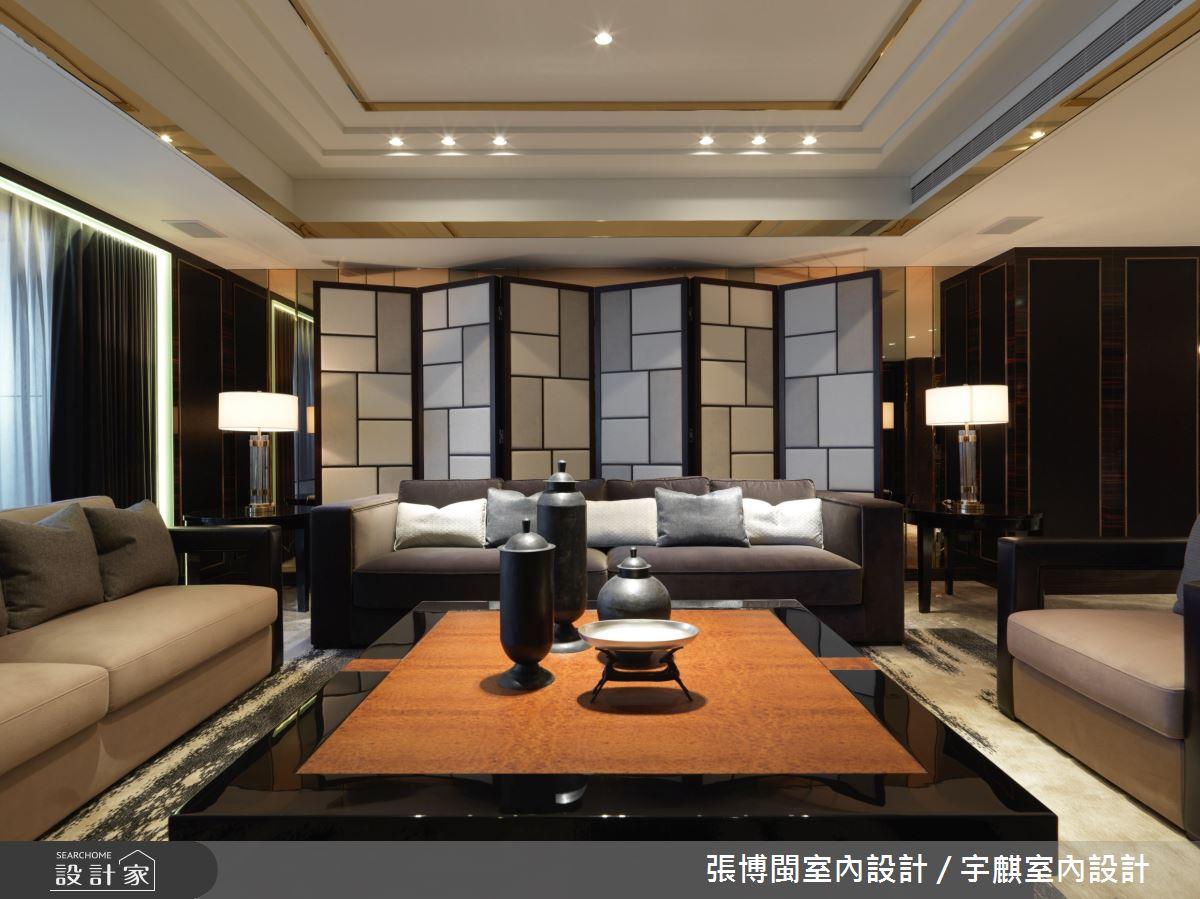 84坪新成屋(5年以下)_奢華風客廳案例圖片_張博閩室內設計 / 宇麒室內設計_張博閩_20之5