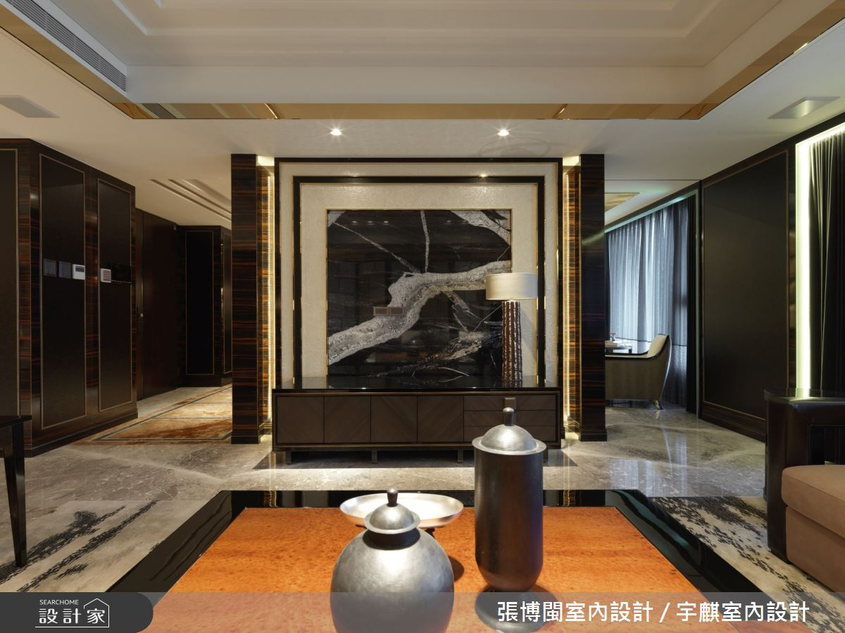 84坪新成屋(5年以下)_奢華風客廳案例圖片_張博閩室內設計 / 宇麒室內設計_張博閩_20之3