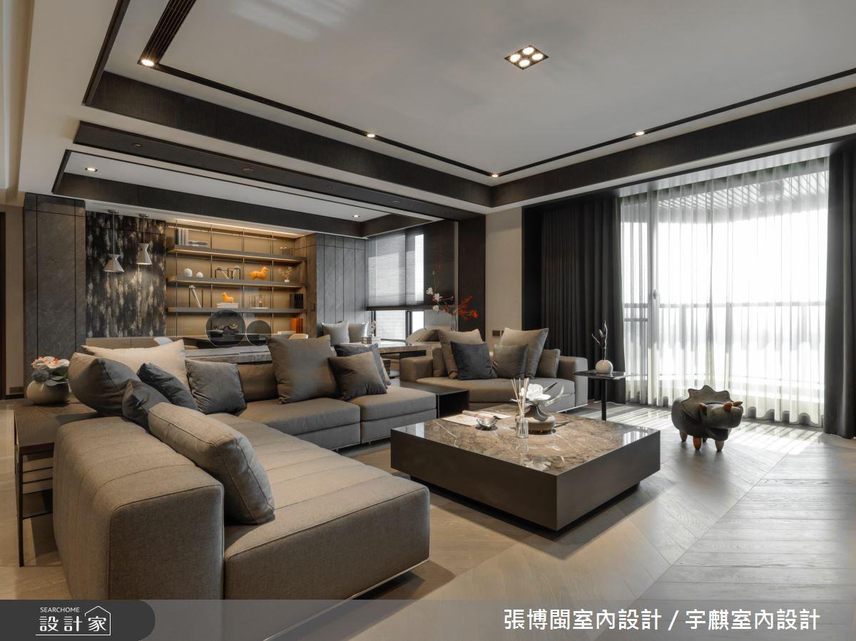 80坪新成屋(5年以下)_現代風客廳案例圖片_張博閩室內設計 / 宇麒室內設計_張博閩_22之3