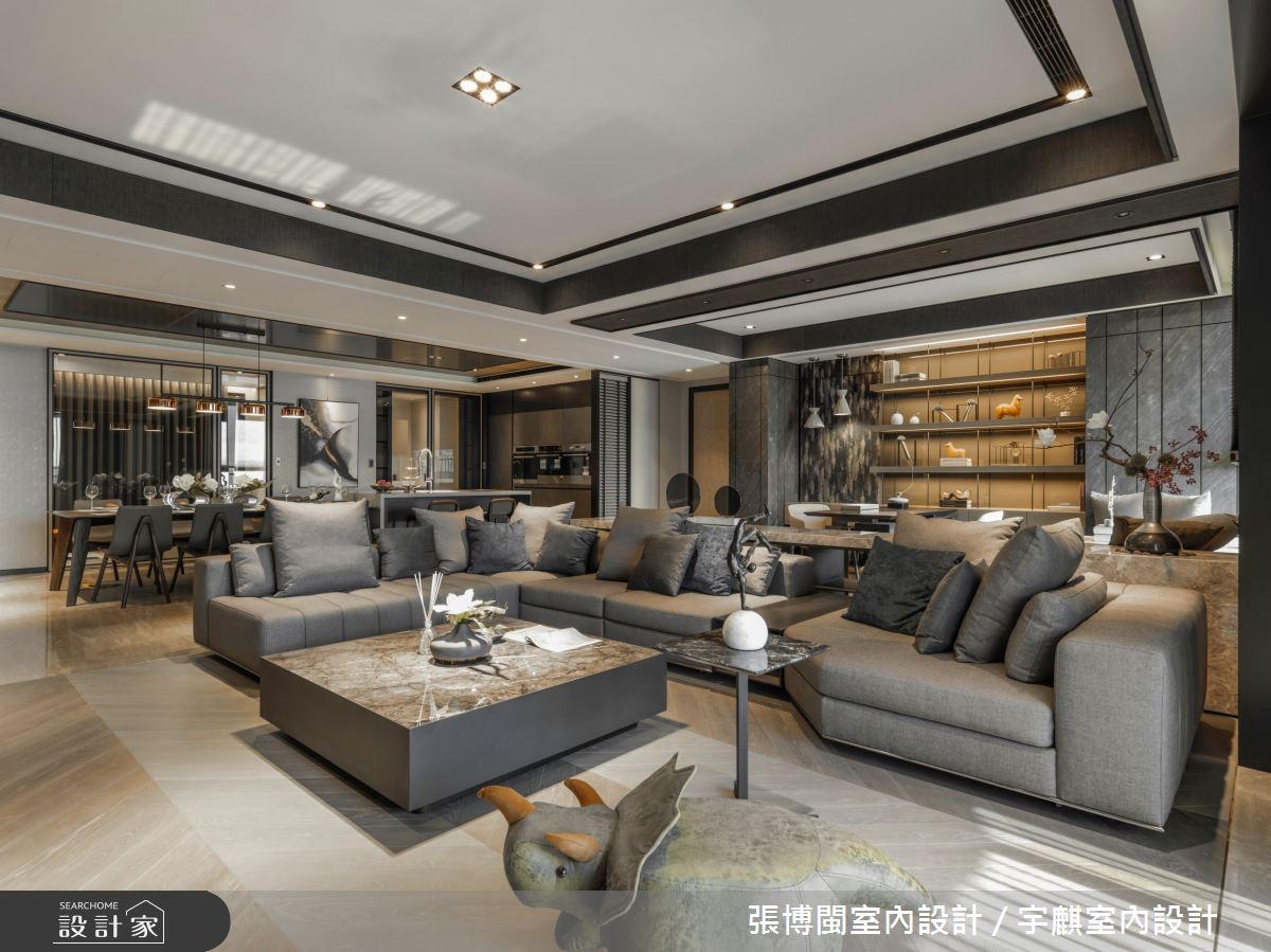 80坪新成屋(5年以下)_現代風客廳案例圖片_張博閩室內設計 / 宇麒室內設計_張博閩_22之5