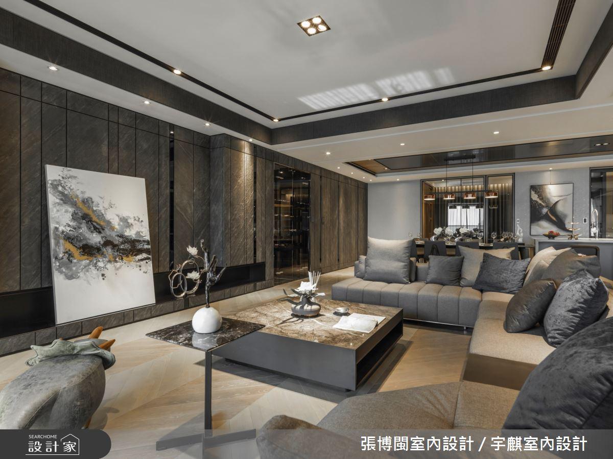 80坪新成屋(5年以下)_現代風客廳案例圖片_張博閩室內設計 / 宇麒室內設計_張博閩_22之2