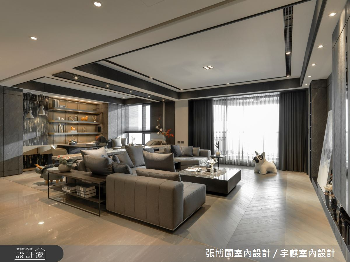 80坪新成屋(5年以下)_現代風客廳案例圖片_張博閩室內設計 / 宇麒室內設計_張博閩_22之4