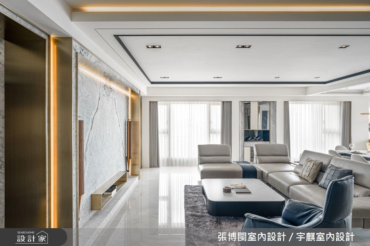 46坪新成屋(5年以下)_奢華風客廳案例圖片_張博閩室內設計 / 宇麒室內設計_張博閩_23之3