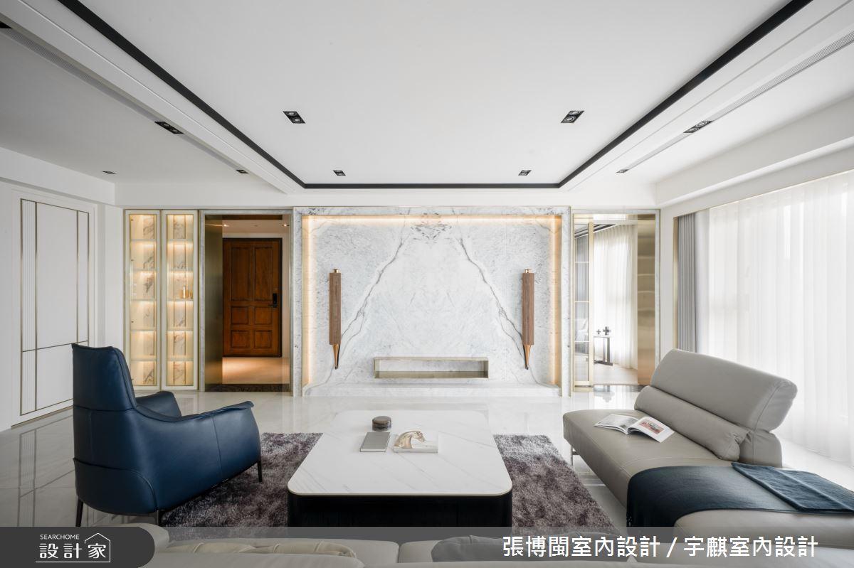 46坪新成屋(5年以下)_奢華風客廳案例圖片_張博閩室內設計 / 宇麒室內設計_張博閩_23之4