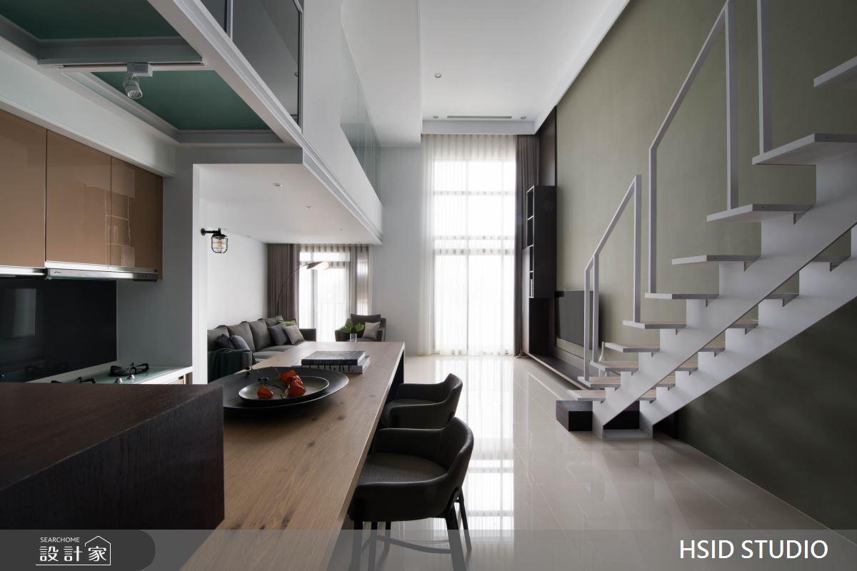 40坪新成屋(5年以下)_現代風餐廳樓梯案例圖片_樺設室內裝修設計有限公司 HSID STUDIO_樺設_10之4