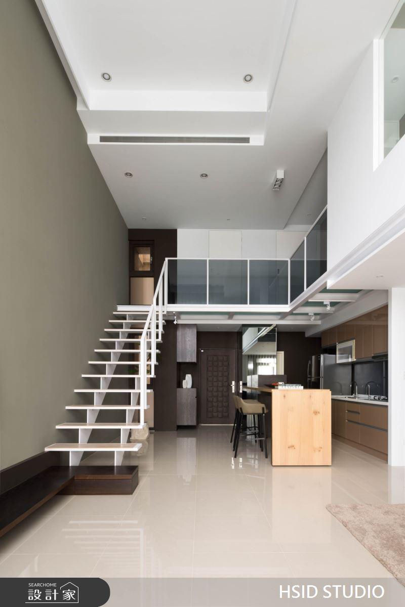 40坪新成屋(5年以下)_現代風樓梯案例圖片_樺設室內裝修設計有限公司 HSID STUDIO_樺設_10之8