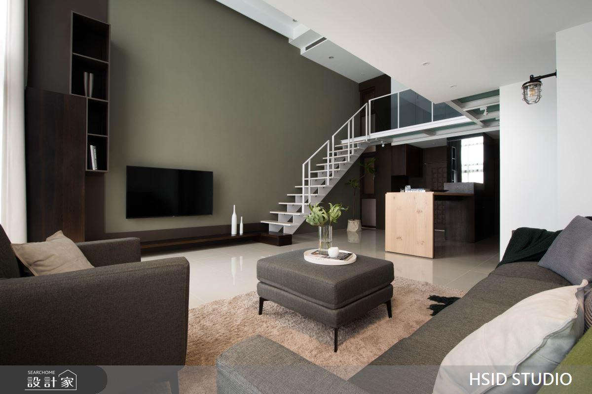 40坪新成屋(5年以下)_現代風客廳樓梯案例圖片_樺設室內裝修設計有限公司 HSID STUDIO_樺設_10之9