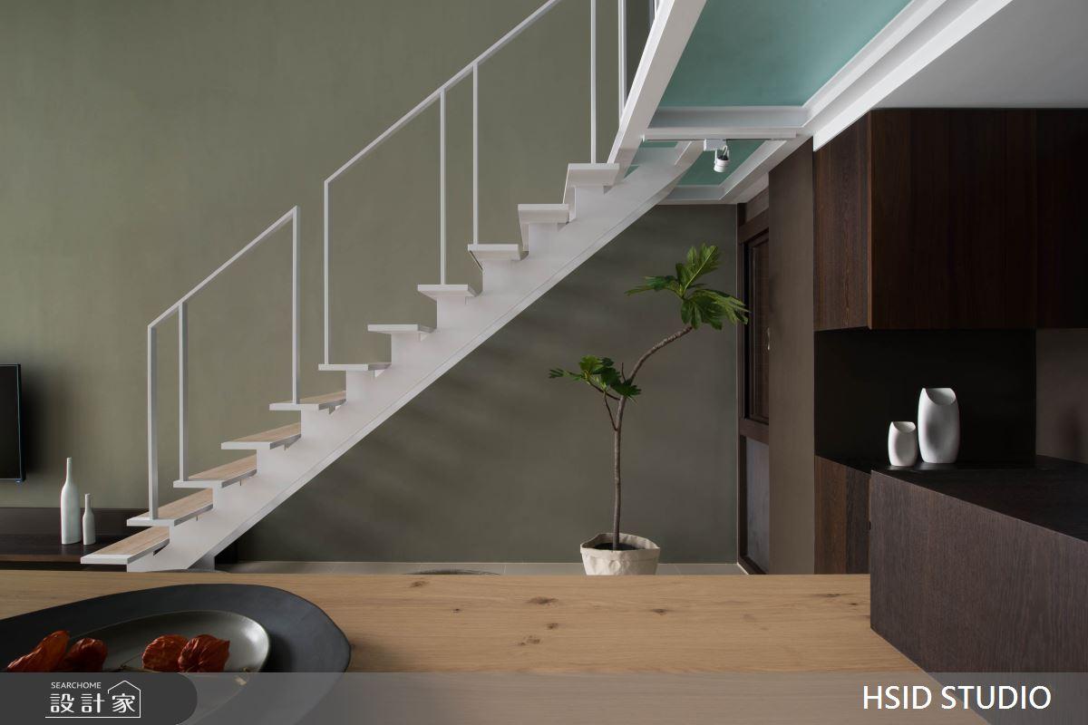 40坪新成屋(5年以下)_現代風餐廳樓梯案例圖片_樺設室內裝修設計有限公司 HSID STUDIO_樺設_10之5