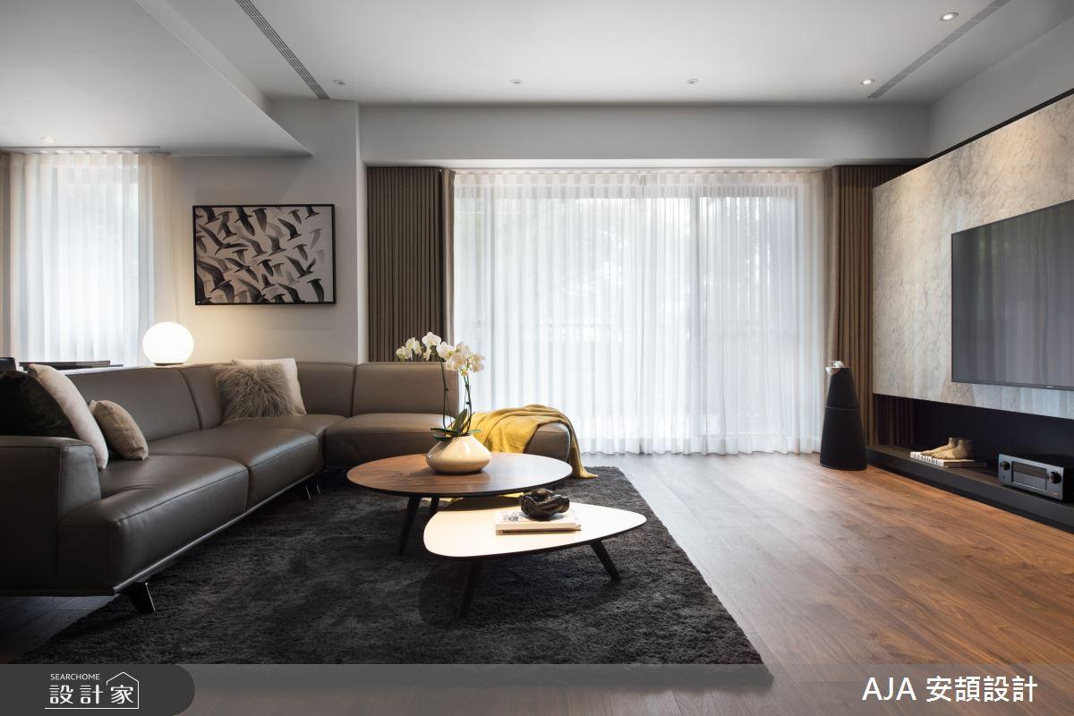 40坪新成屋(5年以下)_其他客廳案例圖片_AJA安頡建築室內設計_安頡_力麒首御 吳公館之8
