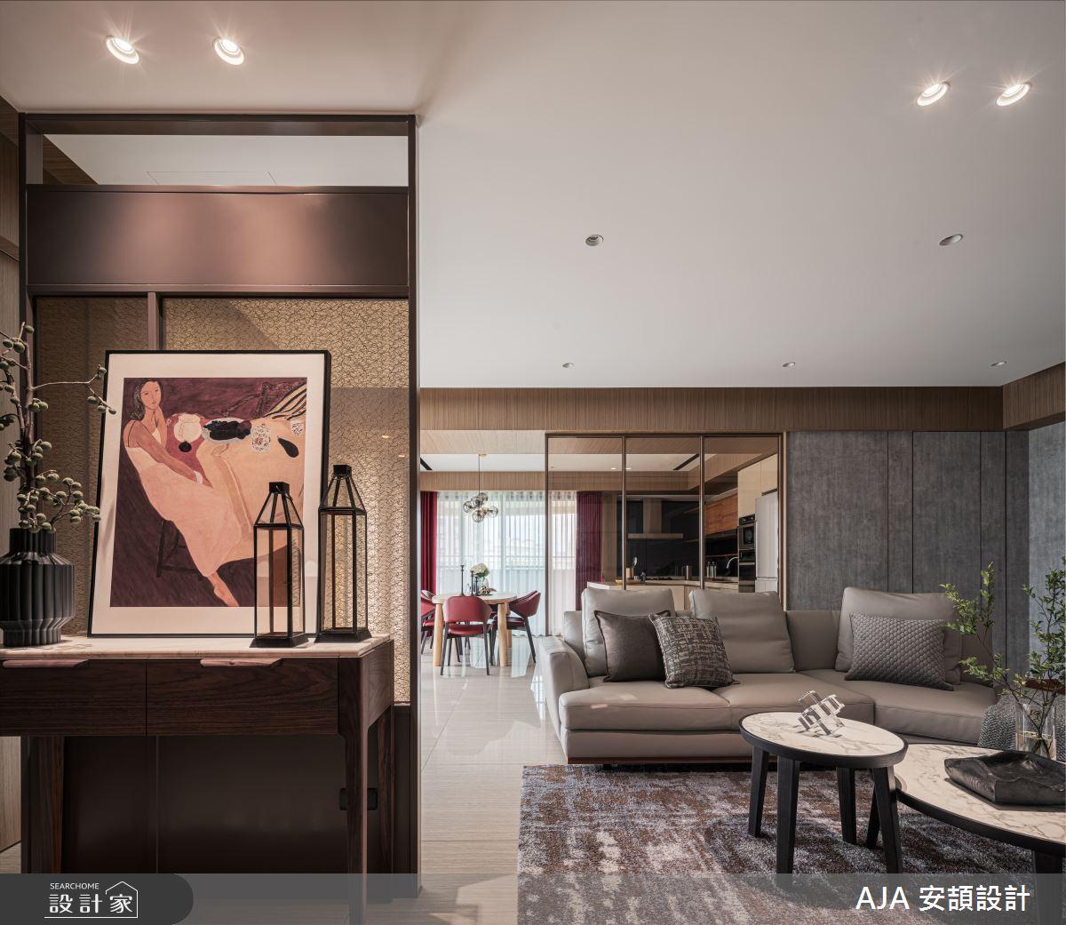50坪新成屋(5年以下)_其他玄關客廳案例圖片_AJA 安頡設計_安頡_天空院子 張公館之2