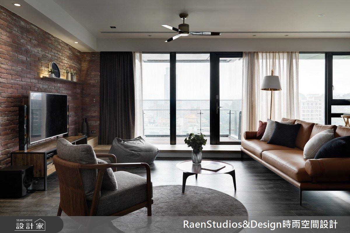 40坪中古屋(5~15年)_美式風客廳案例圖片_時雨空間設計_時雨_曠野森林之4