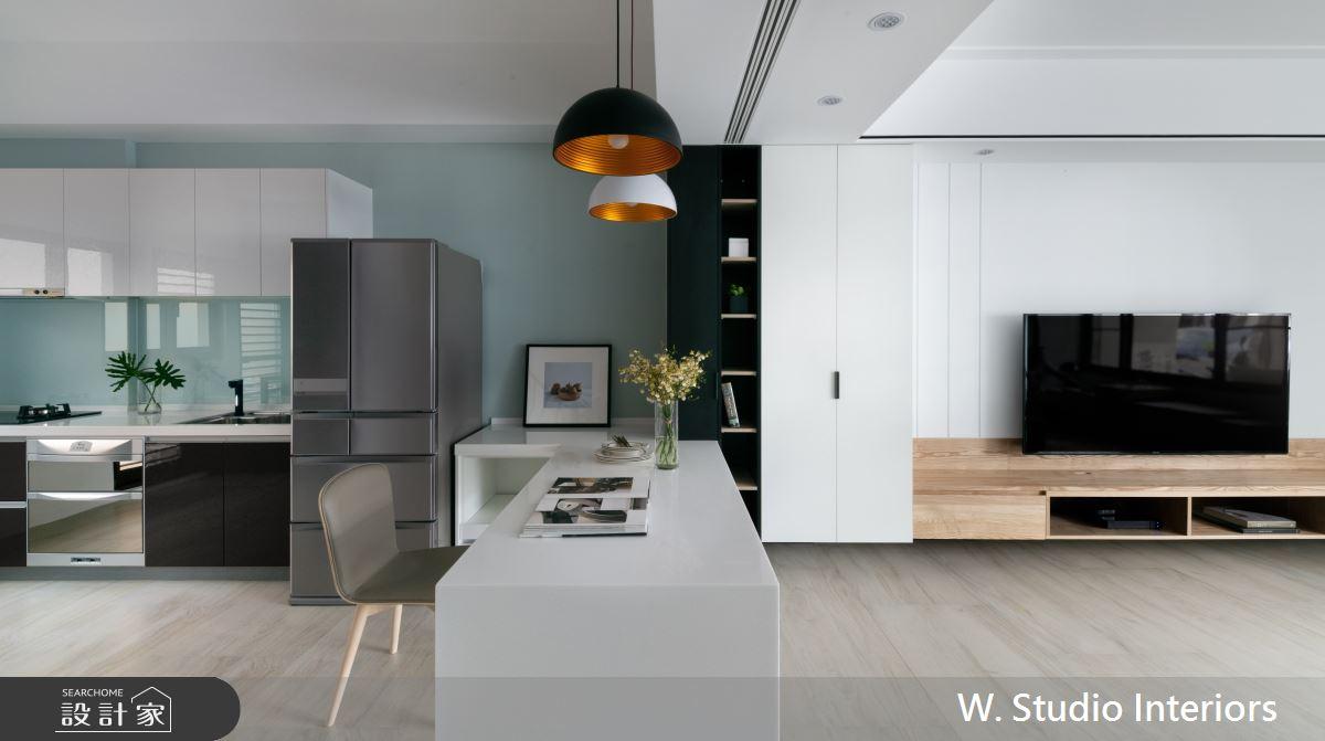 70坪新成屋(5年以下)_北歐風客廳餐廳廚房案例圖片_哲苑室內設計 W. Studio Interiors_哲苑_06之5