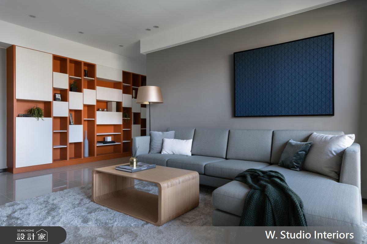 50坪新成屋(5年以下)_現代風客廳案例圖片_哲苑室內設計 W. Studio Interiors_哲苑_07之4