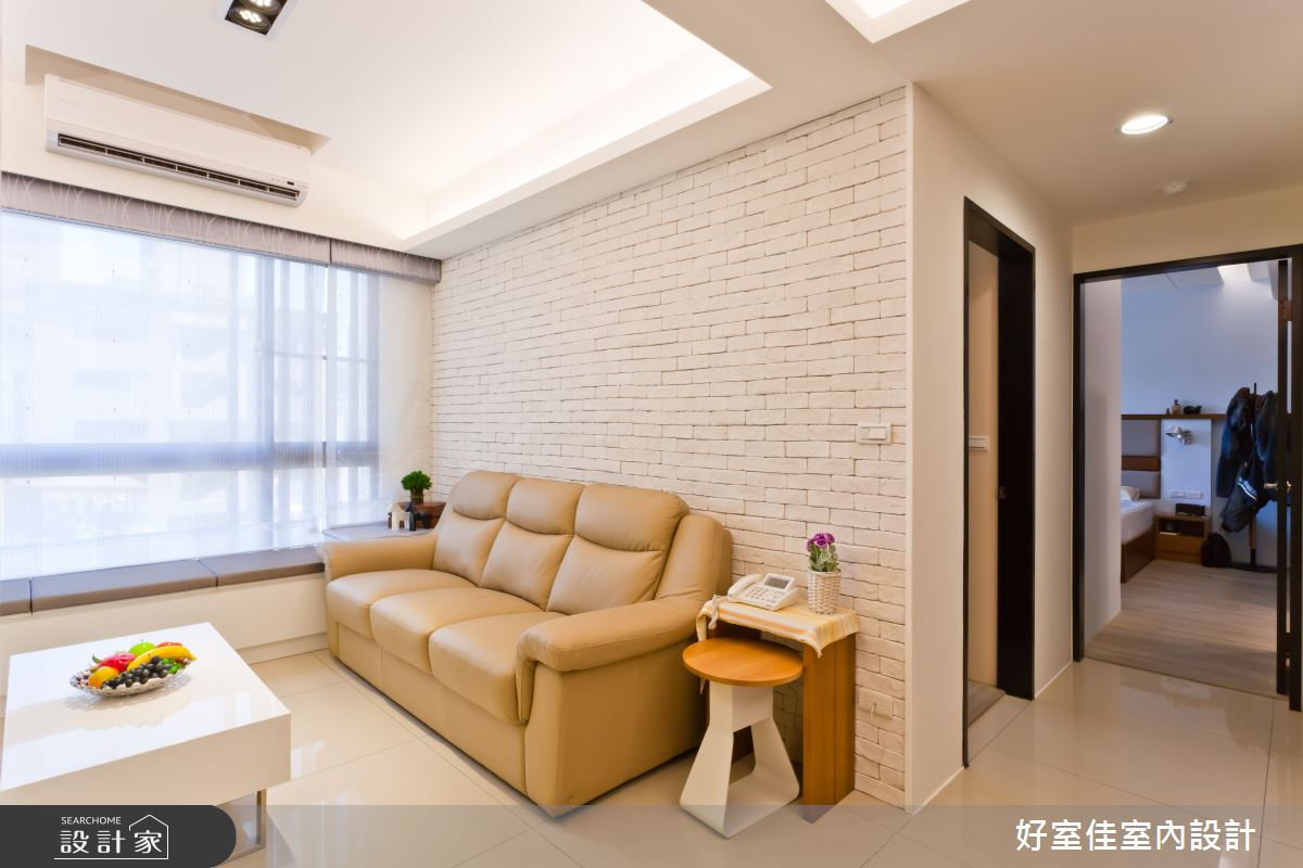 24坪新成屋(5年以下)_簡約風客廳案例圖片_好室佳室內設計_好室佳_簡單溫暖的美好住宅之3