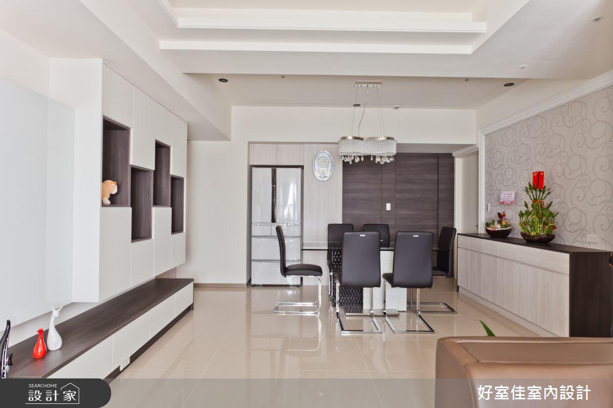 26坪新成屋(5年以下)_簡約風客廳餐廳案例圖片_好室佳室內設計_好室佳_現代極簡的居家生活之2