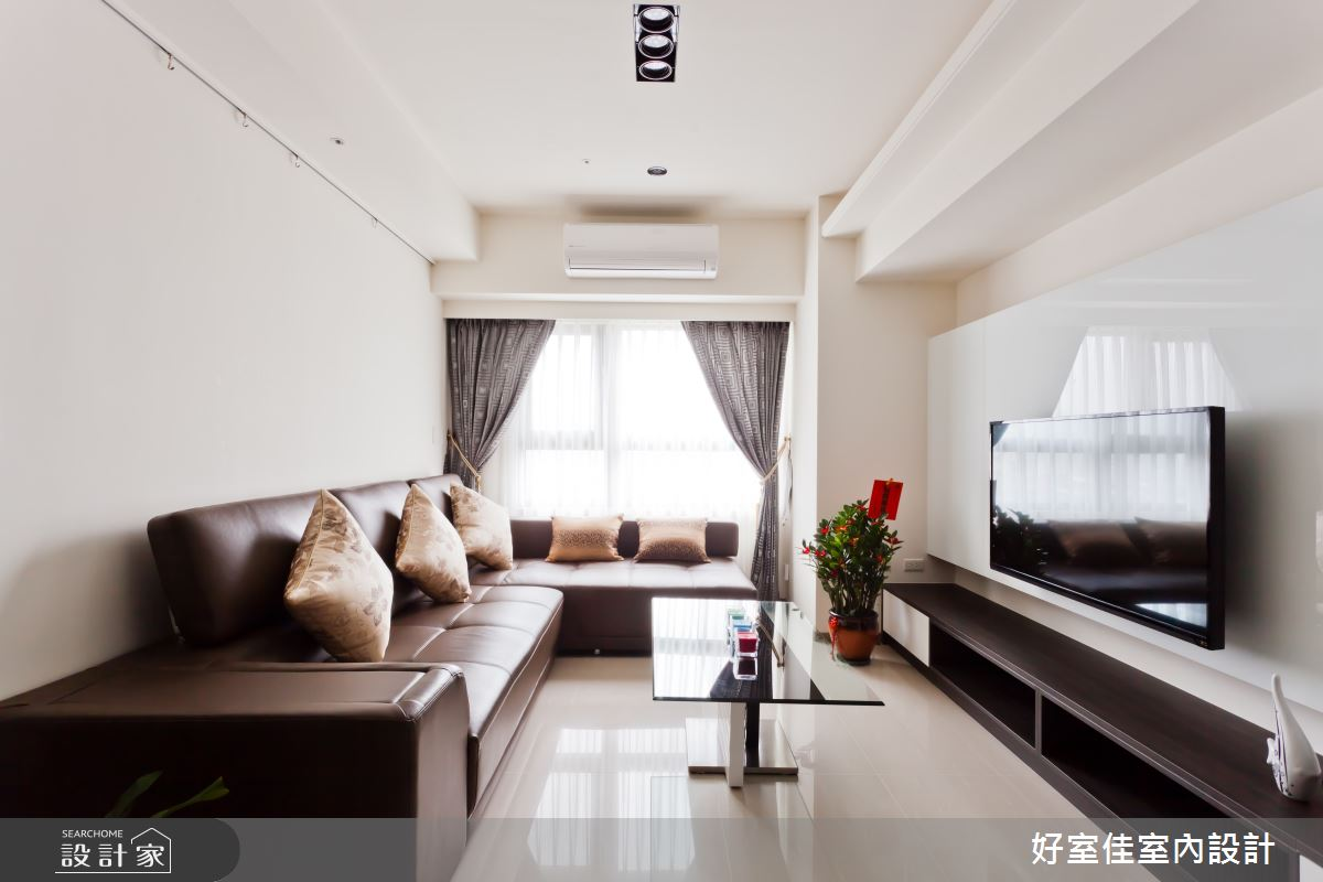 26坪新成屋(5年以下)_簡約風客廳案例圖片_好室佳室內設計_好室佳_現代極簡的居家生活之3