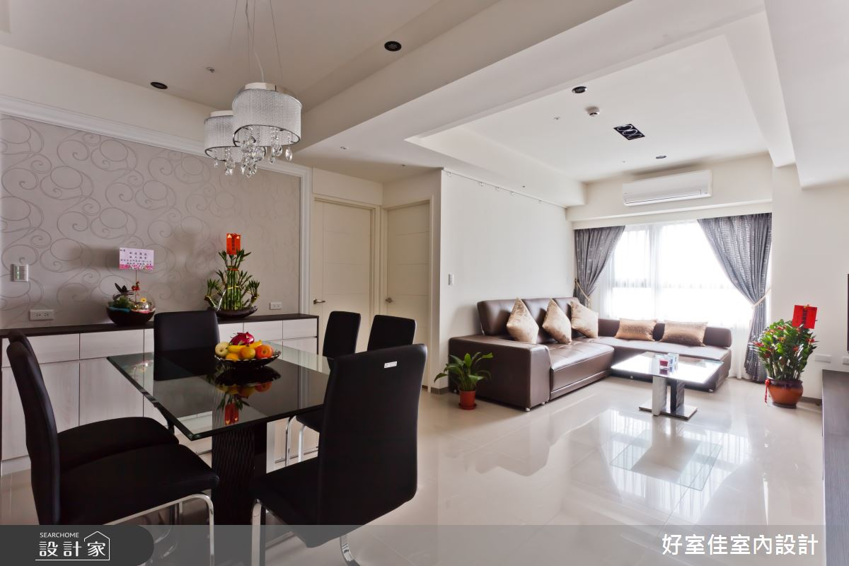 26坪新成屋(5年以下)_簡約風客廳餐廳案例圖片_好室佳室內設計_好室佳_現代極簡的居家生活之4