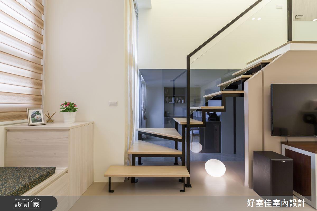 31坪中古屋(5~15年)_簡約風樓梯案例圖片_好室佳室內設計_好室佳_時尚挑高設計好宅之3