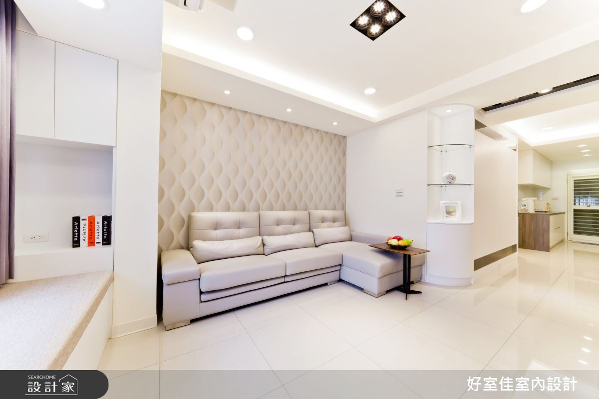 24坪老屋(16~30年)_簡約風客廳案例圖片_好室佳室內設計_好室佳_黑與白的簡約之6