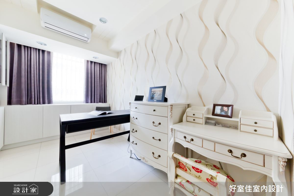 24坪老屋(16~30年)_簡約風臥室案例圖片_好室佳室內設計_好室佳_黑與白的簡約之13