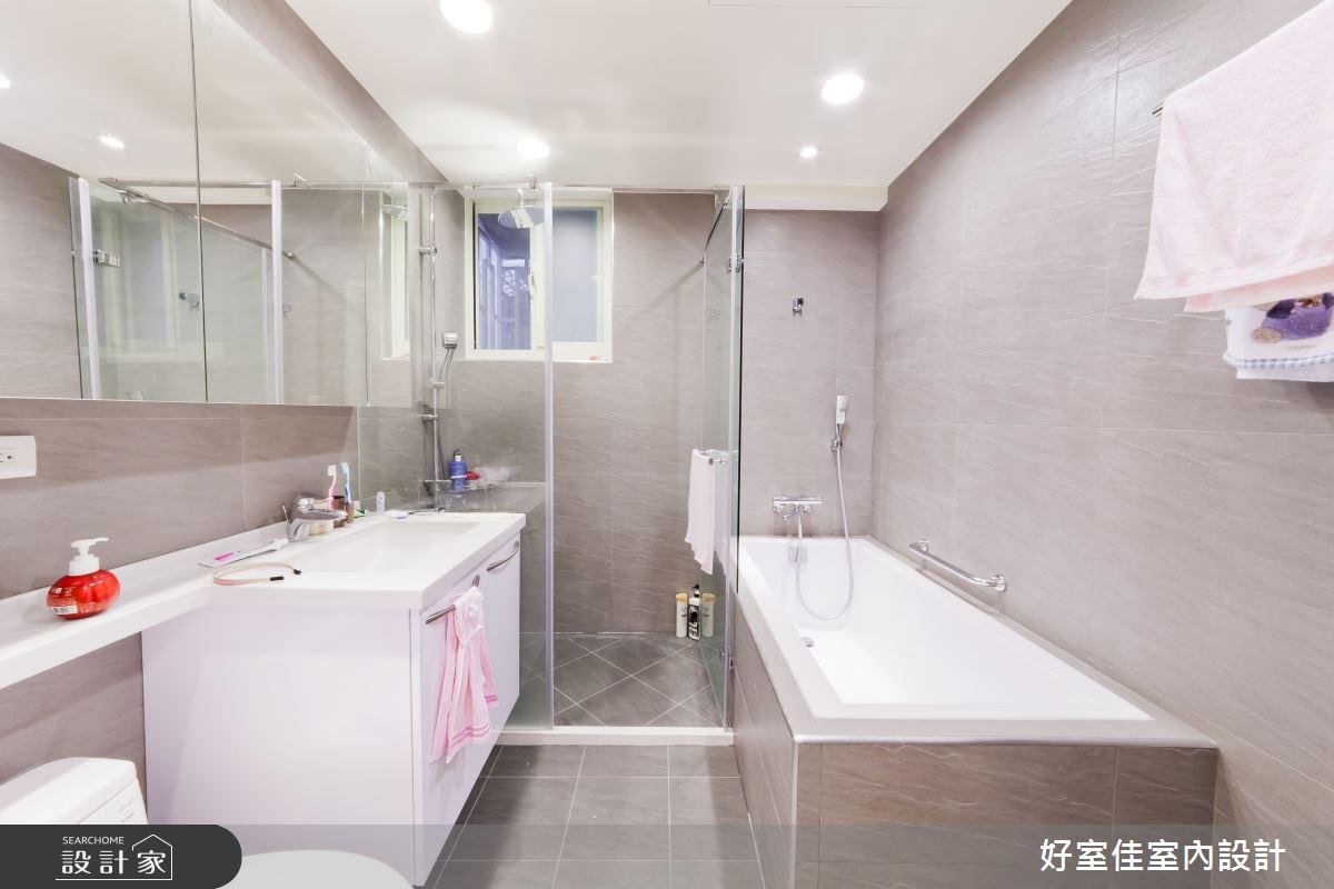 24坪老屋(16~30年)_簡約風浴室案例圖片_好室佳室內設計_好室佳_黑與白的簡約之14
