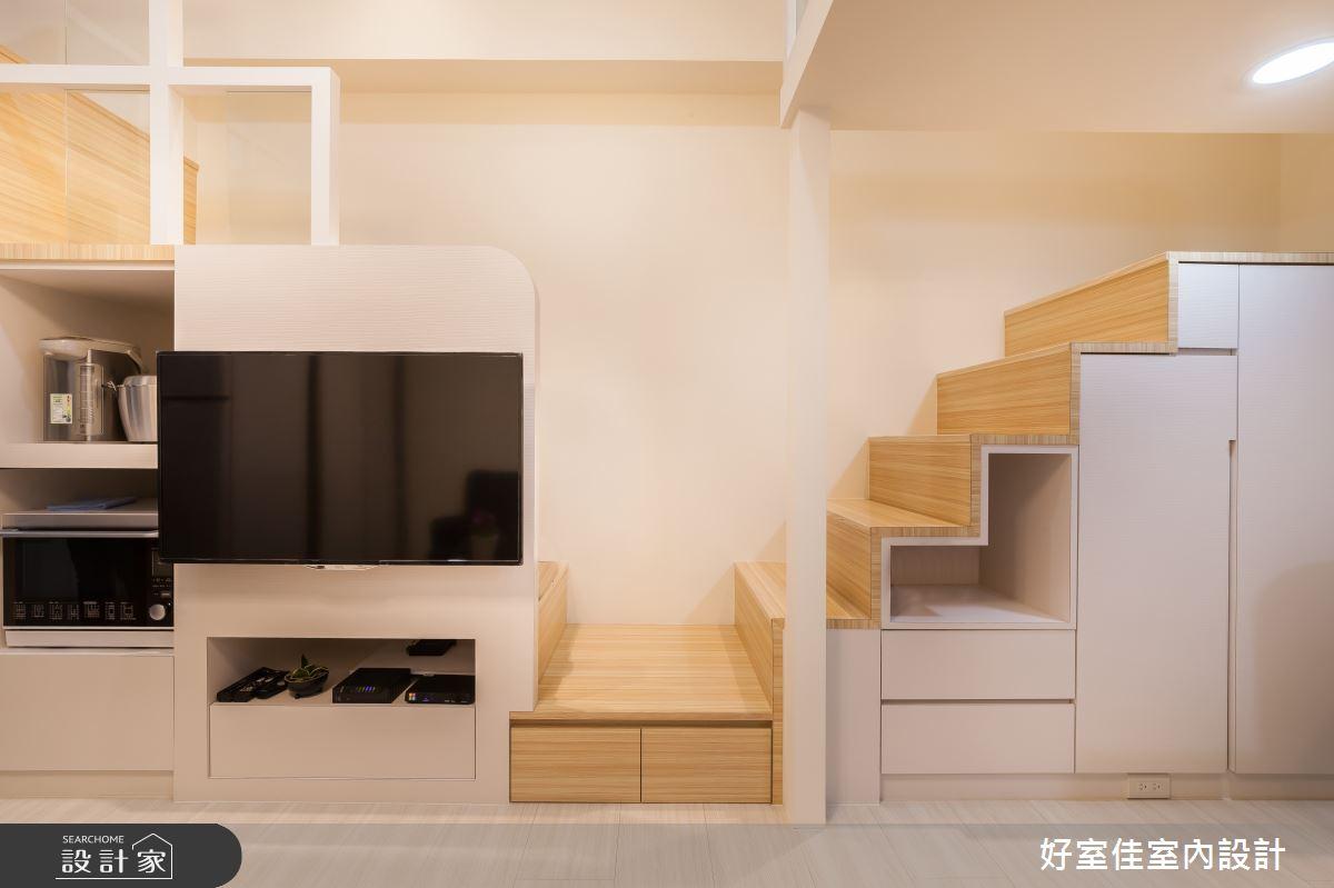 21坪新成屋(5年以下)_現代風客廳樓梯案例圖片_好室佳室內設計_好室佳_機能X甜蜜 樓中樓之5