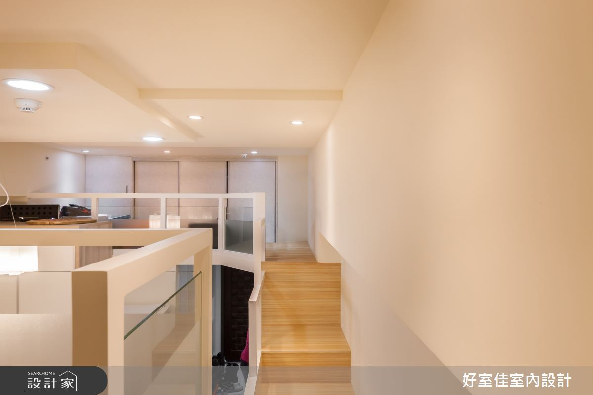 21坪新成屋(5年以下)_現代風樓梯案例圖片_好室佳室內設計_好室佳_機能X甜蜜 樓中樓之12