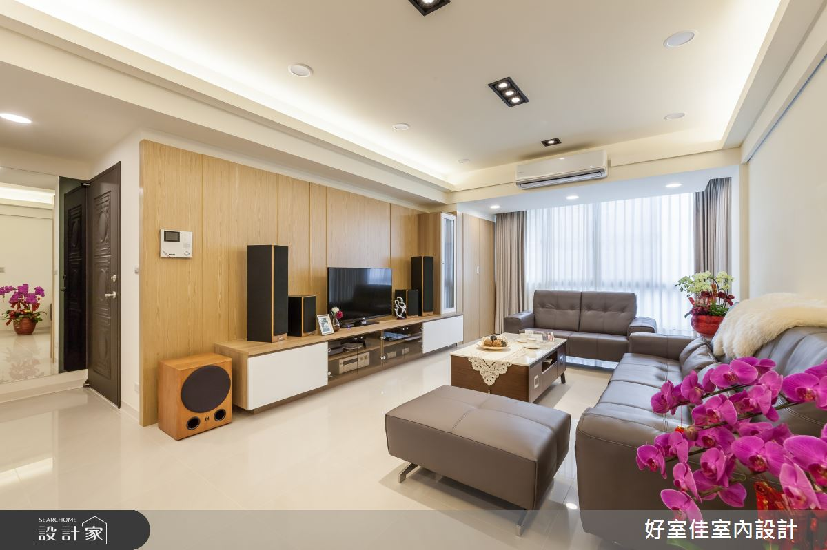 35坪老屋(16~30年)_現代風客廳案例圖片_好室佳室內設計_好室佳_愛上質感風格新居之2