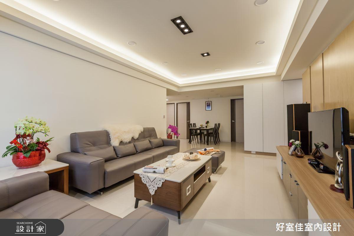 35坪老屋(16~30年)_現代風客廳案例圖片_好室佳室內設計_好室佳_愛上質感風格新居之5