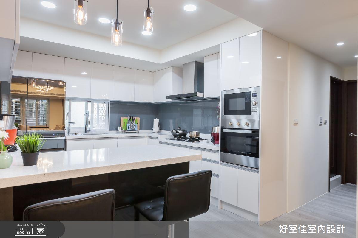 24坪老屋(31~40年)_現代風廚房吧檯案例圖片_好室佳室內設計_好室佳_日常的溫度 木質調之12