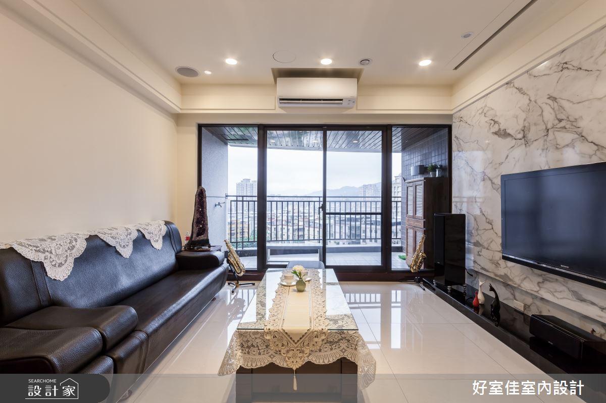 40坪新成屋(5年以下)_現代風客廳案例圖片_好室佳室內設計_好室佳_簡約感 影音機能屋之3